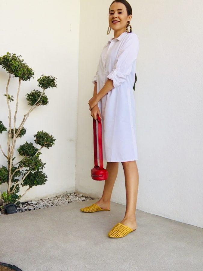 accesorios túnica blanca