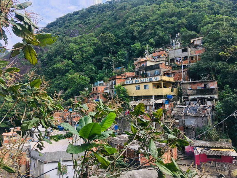 El punto más alto de la Favela Santa Marta