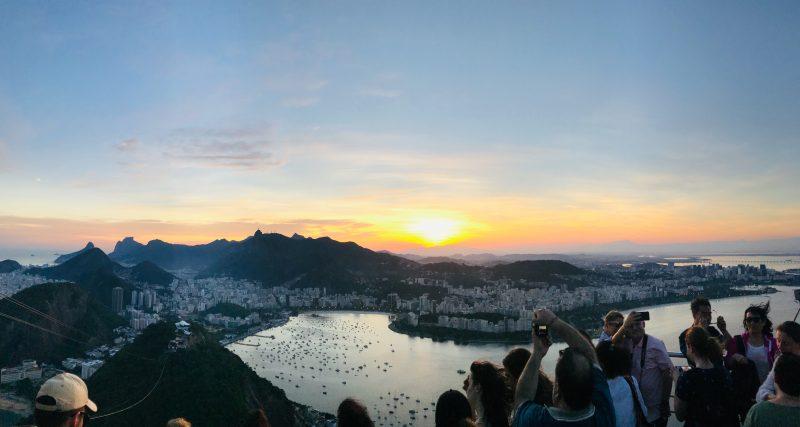 Vista Paõ de Açucar desde el punto más alto